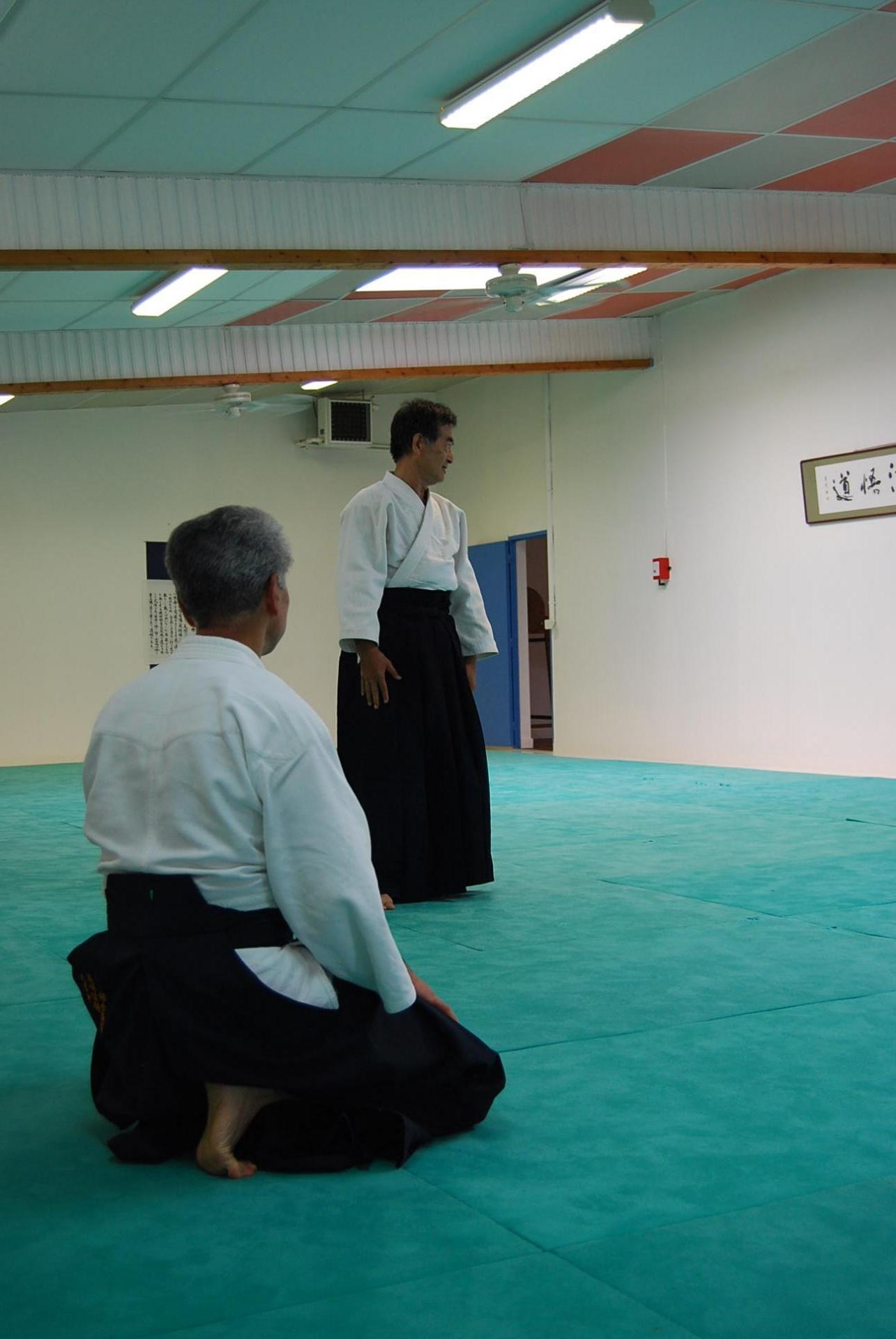 NOGUCHI senseï transmet sa vision de l'aïkido